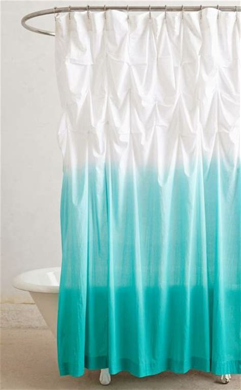 upward shower curtain turquoise bathroom