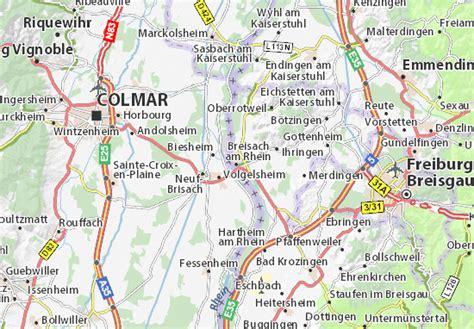 map of breisach am rhein michelin breisach am rhein map viamichelin