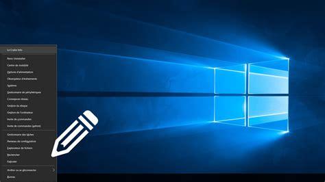 personnaliser bureau windows 8 personnaliser le menu lien rapide de windows 8 et 10 le