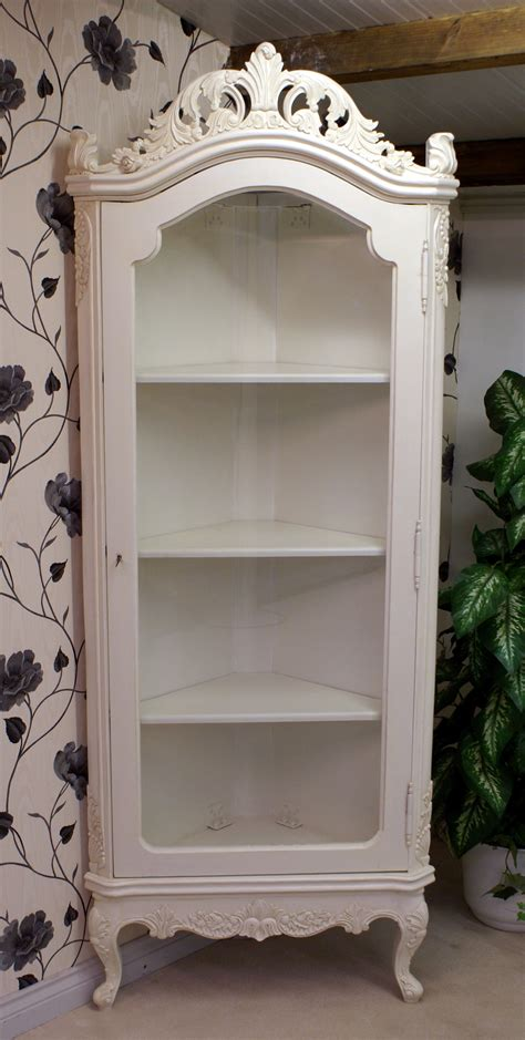 antique white display corner cabinet hampshire barn interiors