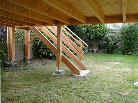cuisine extérieure d été terrasse bois sur pilotis à brest maisons bois acacia