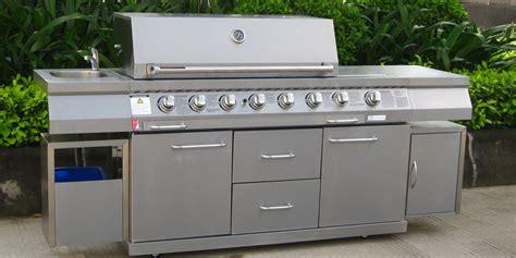 cuisine d exterieur barbecue platine primagaz cuisine d extérieur tout inox oogarden