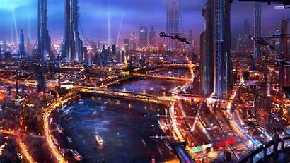 Cyberpunk Futuristic Architecture Wallpapers Fantasy Future Background