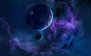 Wallpaper dark matter behind the planet free desktop ...