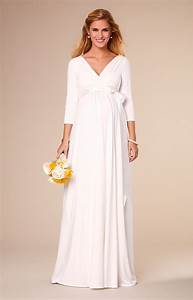 Willow maternity wedding gown long ivory maternity for Maternity dresses for wedding party