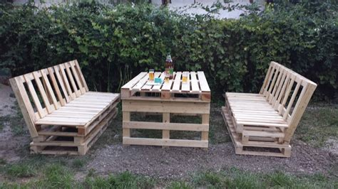 fast comfortable pallet garden lounger set  pallets