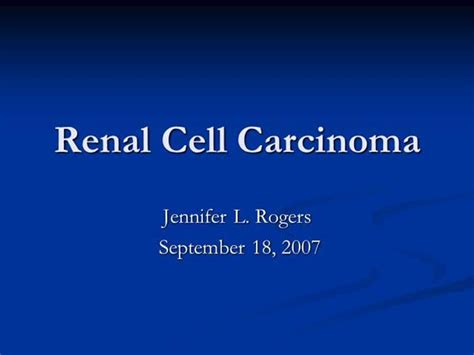 renal cell carcinoma authorstream