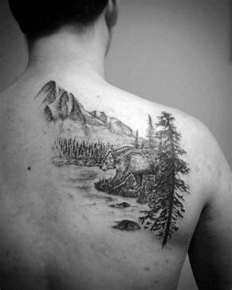 50 River Tattoos For Men - Flowing Water Ink Ideas | River