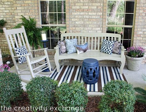 Outdoor Front Porch Furniture by Front Porch Rev How To Spray Paint Outdoor Furniture