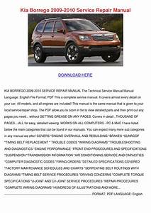Kia Borrego 2009 2010 Service Repair Manual By Darci