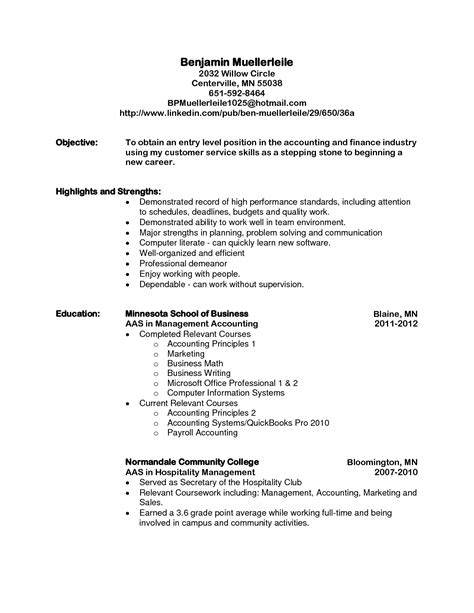 Level Resume by Sle Objective For Resume Entry Level Format Beginner