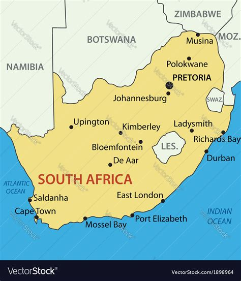 republic  south africa map royalty  vector image