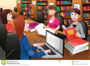 typing learning program college students studying in a library royalty free stock photo image 33519695