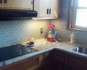 Glass Subway Tile Kitchen Backsplash Idea Hometalk
