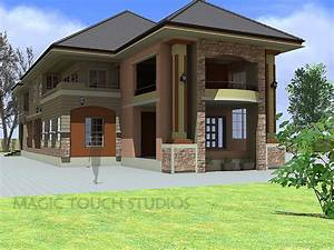 4 Bedroom Duplex With Attached Two Bedroom Flat Modern