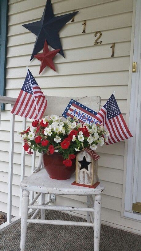 Diy July Outdoor Decorations For Front Porches