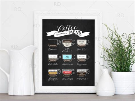 coffee menu templates  sample  format