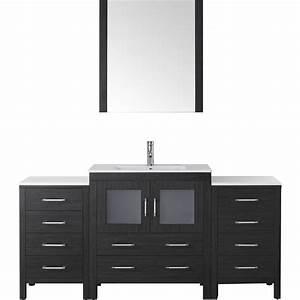 virtu ks 70068 modern 68 inch dior single sink bathroom With 68 inch bathroom vanity