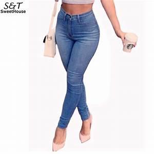 2017 Women Denim Pants Stretch Skinny High Waist Jeans ...