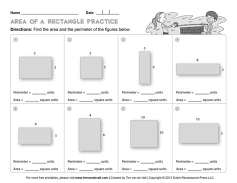 worksheet area and perimeter worksheets for 4th grade