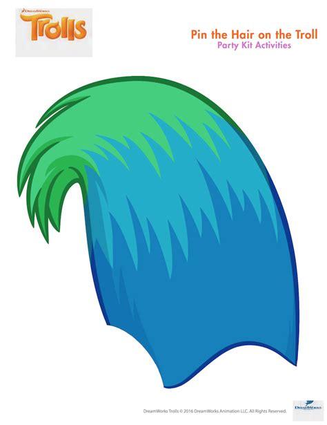 trolls hair template trolls party