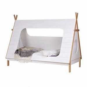Zelt Bett Kinder : abenteuerbett spielbett tipi kiefer wei lackiert ~ Michelbontemps.com Haus und Dekorationen