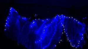 Shimmyfest 2012  Blue Led Lights Isis Wings  Belly Dance