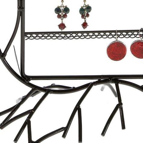 presentoir boucle d oreille porte boucle d oreille arum pour 40 paires support bijoux