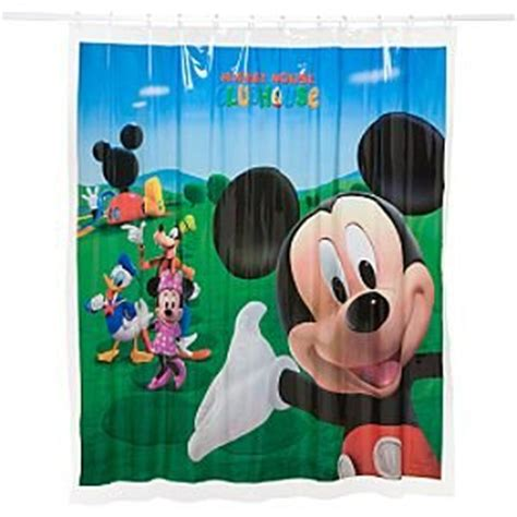 mickey mouse clubhouse vinyl shower curtain amazon co uk