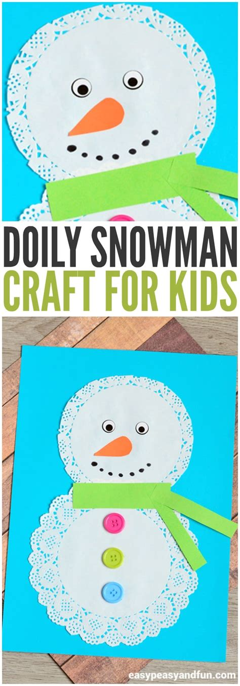 easy activities for preschoolers doily snowman craft easy peasy and 766