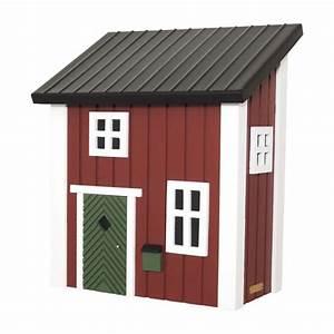 wildlife garden briefkasten schwedenkate rot online kaufen With katzennetz balkon mit wildlife garden ab