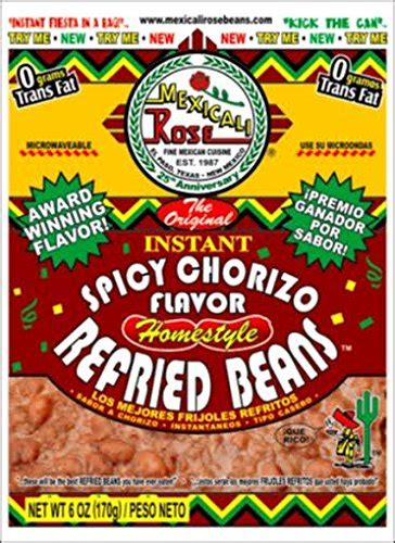 Amazon.com : Mexicali Rose Instant Homestyle Refried Beans