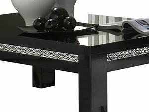 Table Basse Noir : table basse laqu e noire ~ Teatrodelosmanantiales.com Idées de Décoration