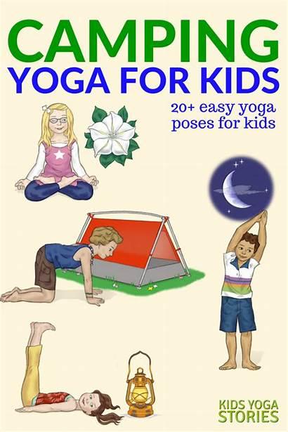 Yoga Poses Camping Pose Poster Printable Stories