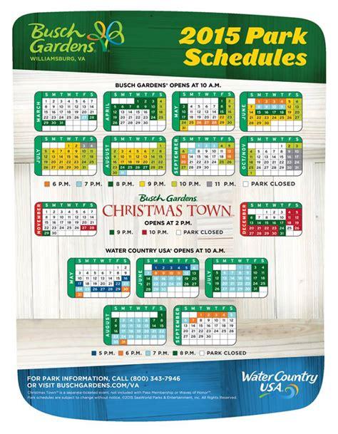 Bush Garden Ticket Price by 2015 Busch Gardens Williamsburg Schedule Attraction Chasers