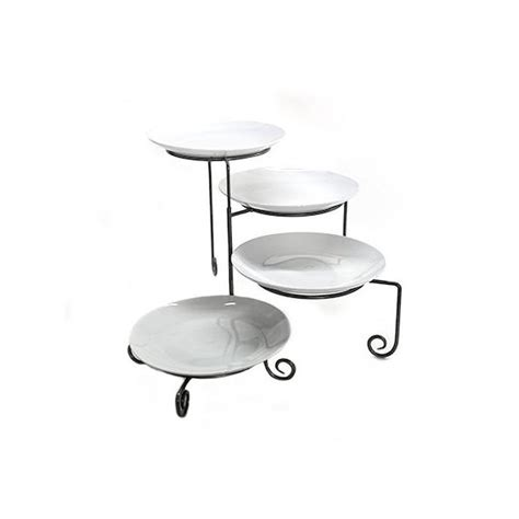 wrought iron plate stand  tier concept party rentals nyc