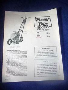 1983 Power Trim Edgers Owners Manual 500