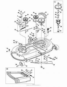 Troy Bilt 13wn77ks011 Pony  2012  Parts Diagram For Mower Deck