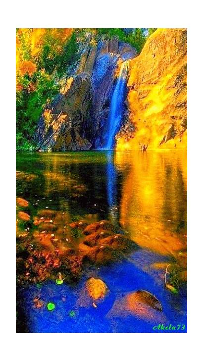 Nature Landscapes Places Waterfalls Waterfall