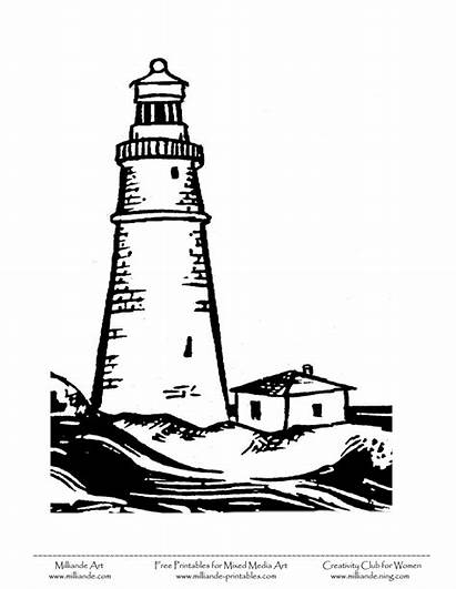 Lighthouse Clipart Clip Coloring Pages Disney Printable