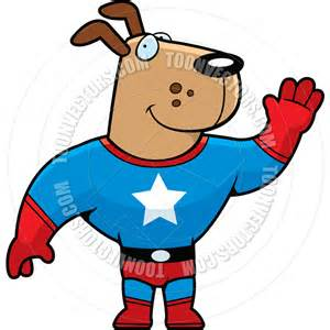 Superhero Dog Cartoon