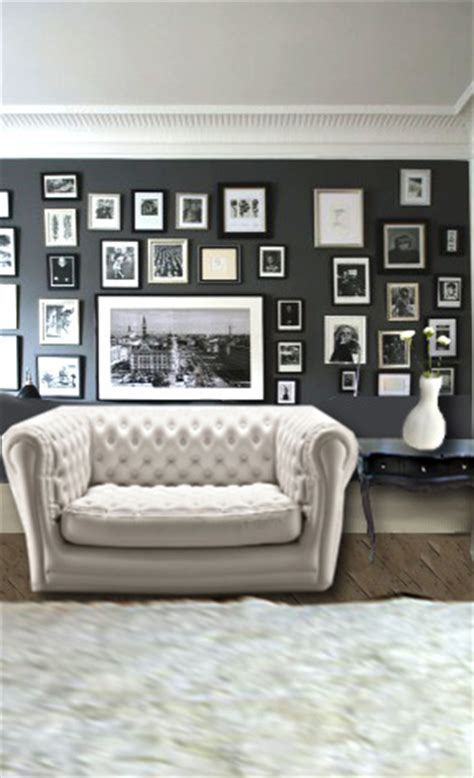 accrocher tableau mur beton maison design goflah