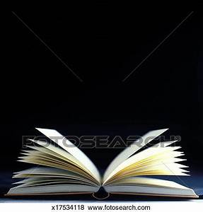 Pictures of close-up of an open book with pages flying ...