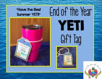 year gift tag  yeti cup  teach   heart