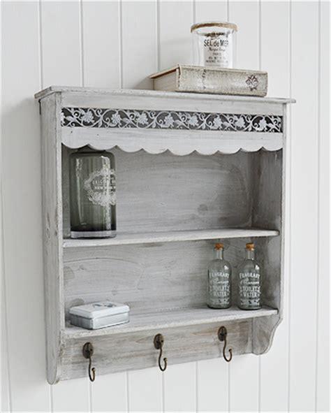 grey wall shelf   shelves  hooks   white