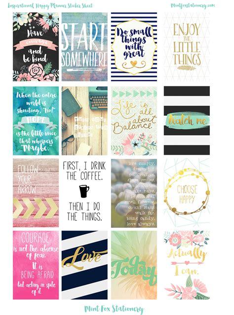 decorative boxes inspirational planner sticker sheet