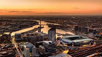 Melbourne Stadium Docklands Australia Cityscapes Buildings Wallpapers