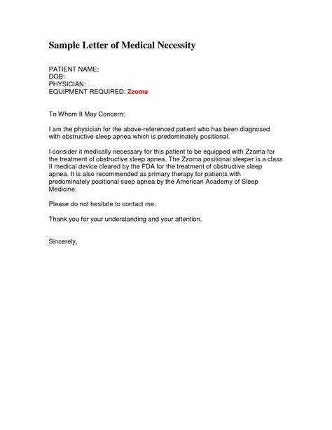 letter  medical necessity dme sample