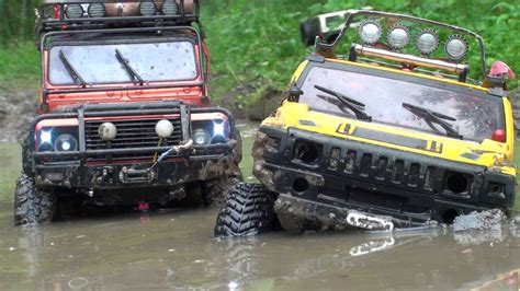 jeep defender 2016 watch as the rc hummer h2 land rover defender and jeep