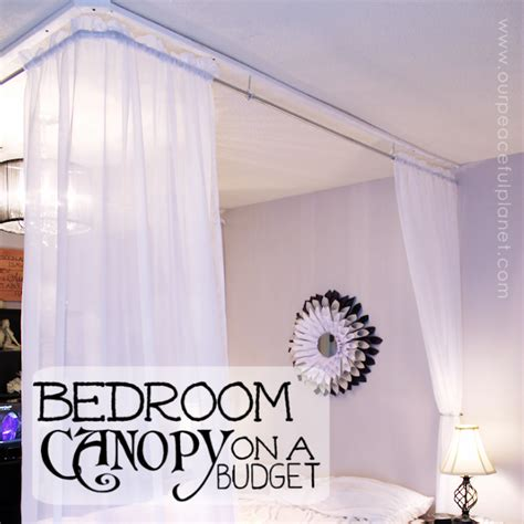inexpensive diy bed canopy  peaceful planet
